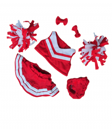 Red and White Cheerleader - 8""